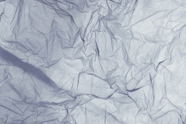 Detail der beschaffenheit einer blauen plastiktasche