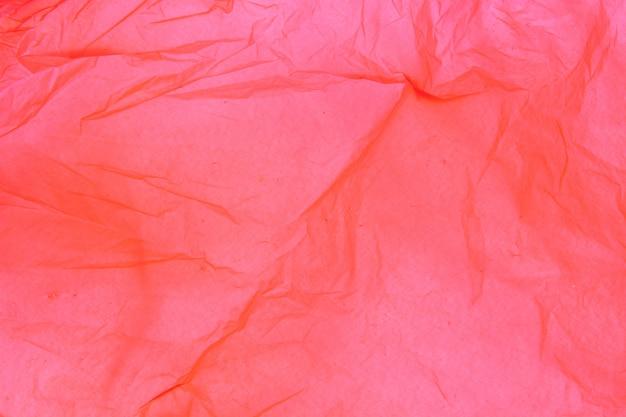 Detail der beschaffenheit einer roten plastiktasche