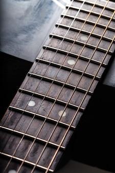 Detail der klassischen gitarre