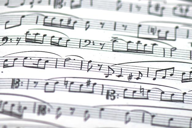 Detail der musikpartitur