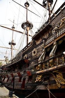 Detail der neptun-galeone, verwendet von r. polansky für den film pirates