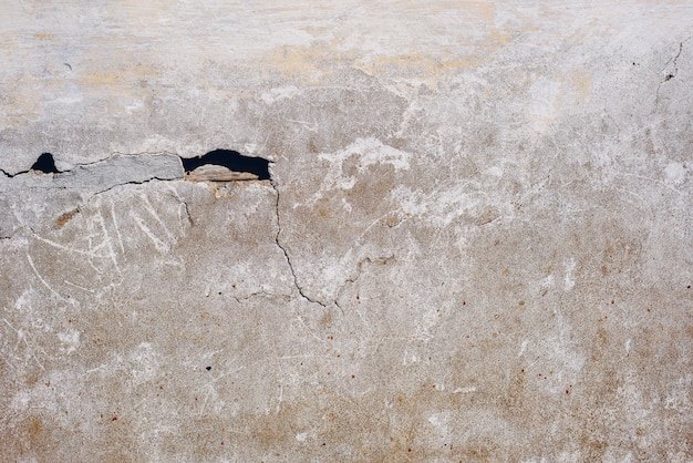 Detail der schmutzigen rissigen betonwand. speicherplatz kopieren
