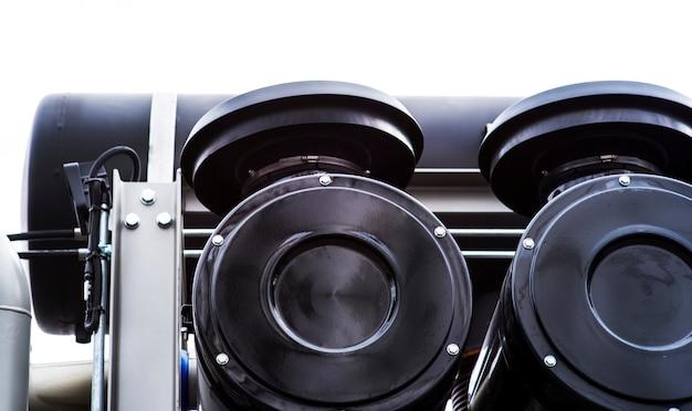 Detail der spiralrohrmaschine für arbeiten auf den ölfeldern