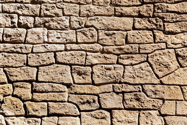 Detail der struktur der alten steinmauer