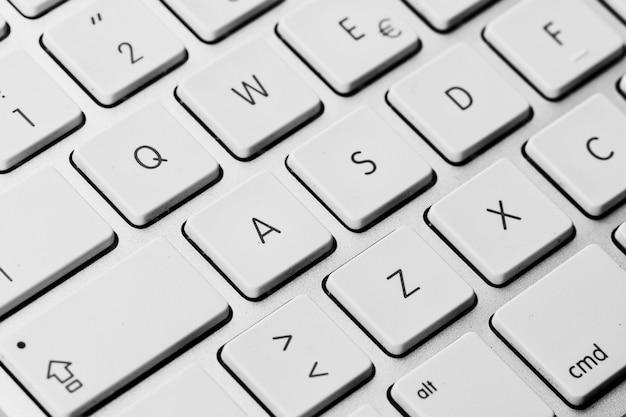 Detail der tastaturtasten des personalcomputers