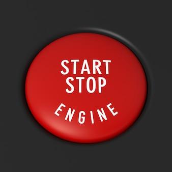 Detail des autostarts - stopptaste. digital generiertes bild
