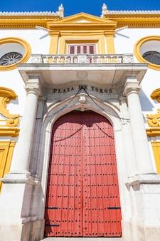 Detail des bereichs plaza de toros in sevilla - region andalusien - spanien