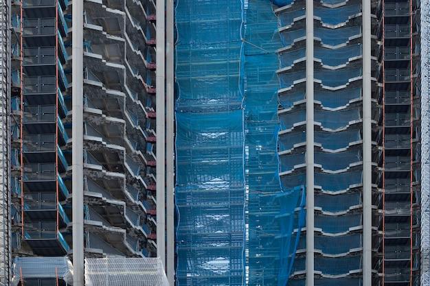 Detail des betongebäudes im bau