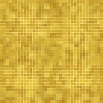 Detail des gelben gold mosiac texture abstrakten keramikmosaik geschmückten gebäudes.