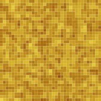 Detail des gelben goldmosiac-beschaffenheitszusammenfassungskeramikmosaiks schmückte gebäude. abstraktes nahtloses muster. abstrakte farbige keramiksteine.