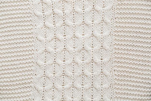 Detail des gestrickten sweatshirts