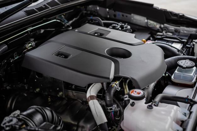 Detail des neuwagenmotors