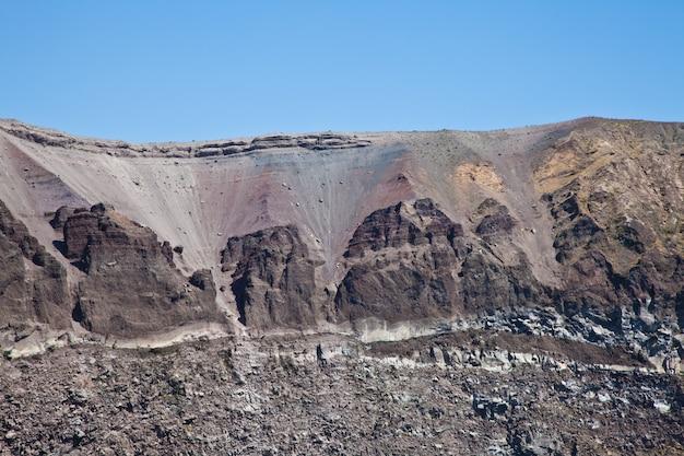 Detail des vesuv-kraters, neapel, italien