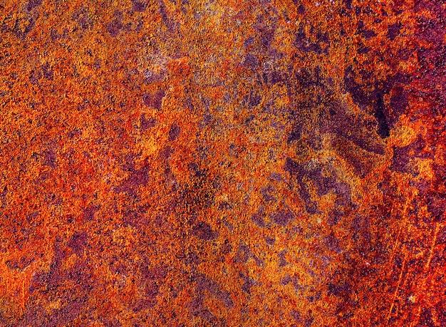 Detail einer braunen schmutzrostfleckbeschaffenheit