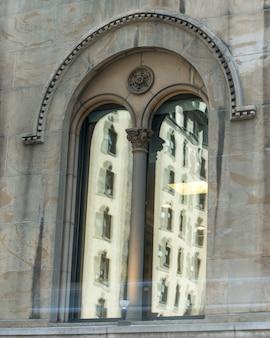 Detail eines fensters, manhattan, new york city, staat new york, usa
