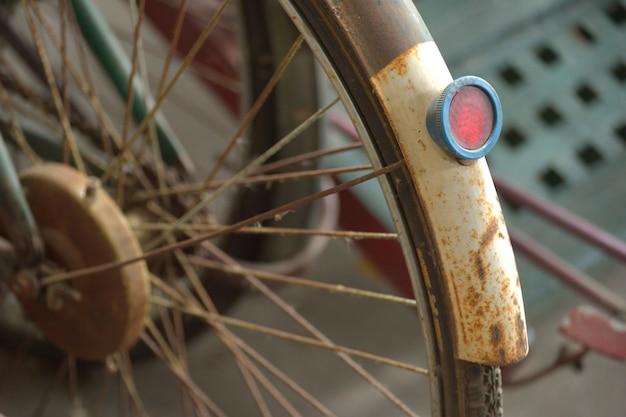 Detail eines weinlese-fahrrades