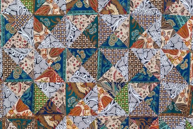 Detail patchwork quilt im straßenmarkt bali insel ubud indonesien