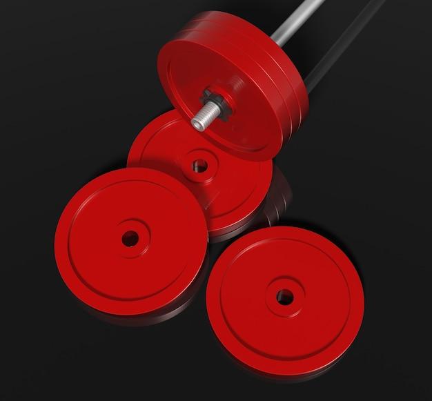 Detail rote barteln mit isoliertem schwarzem hintergrund.
