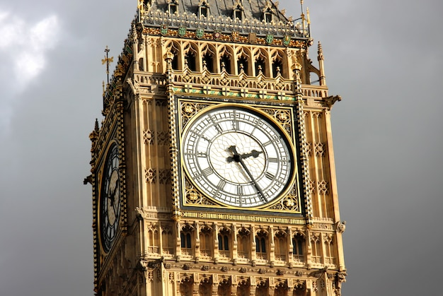 Detail von big ben tower, london