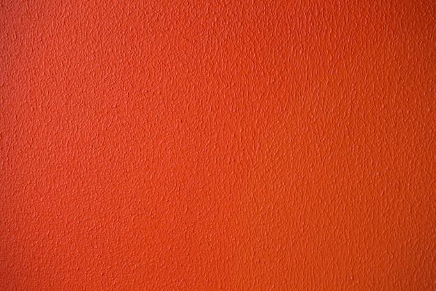 Detaillierte nahaufnahme der orange oder roten gipswandbeschaffenheit