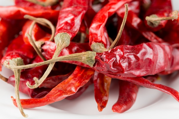 Detaillierte schießen von chili