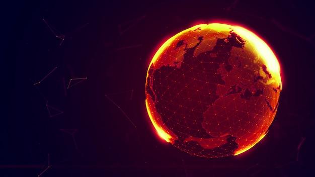 Detaillierter virtueller planet erde