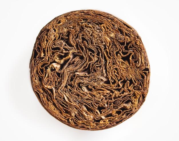 Detailliertes foto einer zigarrenfront. luxuriöse kubanische zigarre.