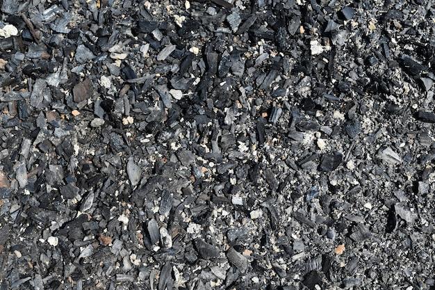 Detailoberfläche der holzkohle für hintergrund