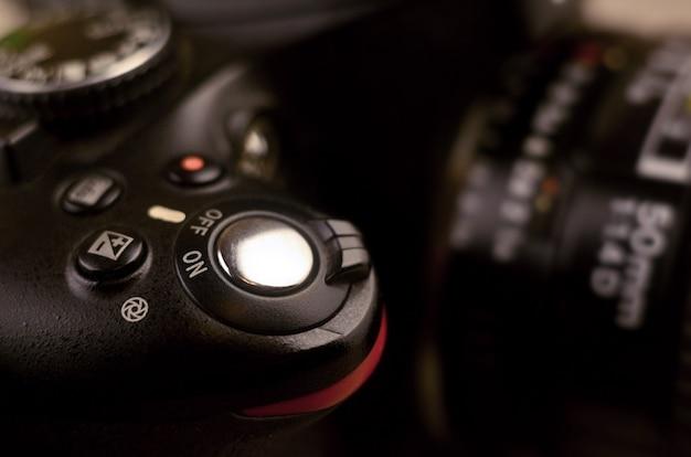 Details der modernen digitalen slr-fotokamera