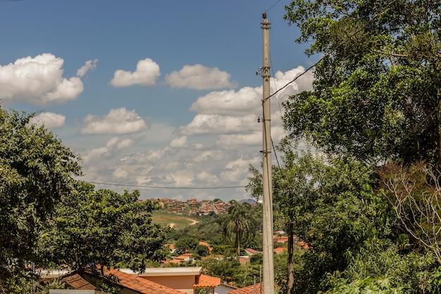 Details der stadt von tiradentes in brasilien