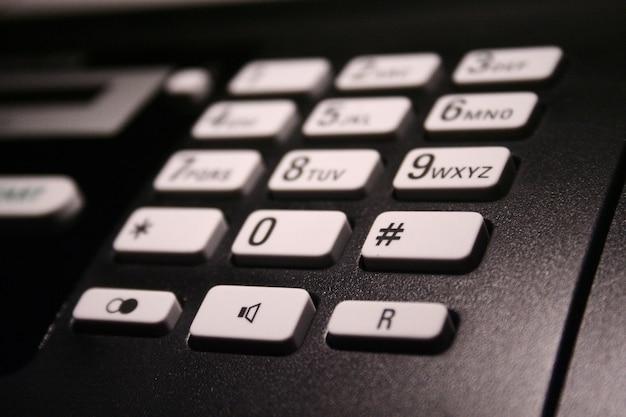 Details der telefontastatur