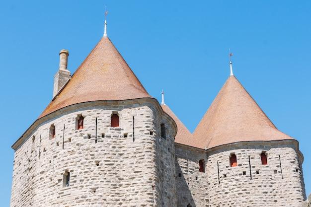 Details der zitadelle von carcassonne