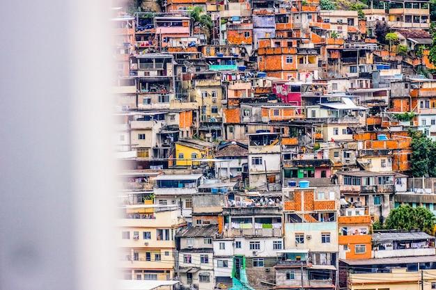 Details des hügels von vergnügen in rio de janeiro - brasilien