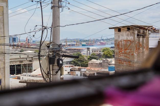 Details des pinto hügels in rio de janeiro - brasilien