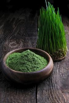 Detox superfood green barley sprout gras schüssel pulver