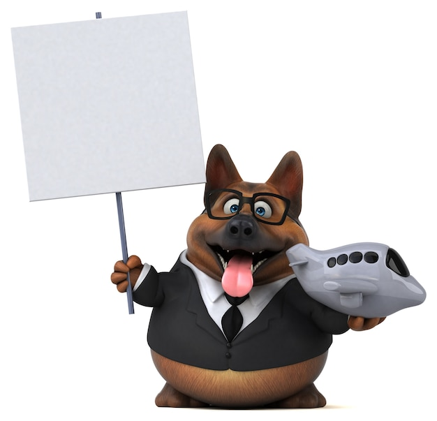 Deutscher schäferhund - 3d-illustration