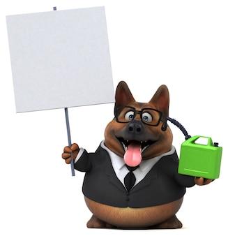 Deutscher schäferhund - 3d illustration