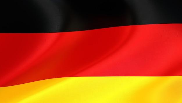Deutschland flagge rendern mit textur