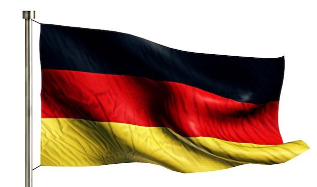 Deutschland nationalflagge isoliert 3d weißen hintergrund