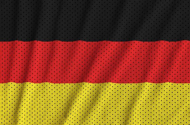 Deutschlandflagge gedruckt auf einem polyester-nylonnetz