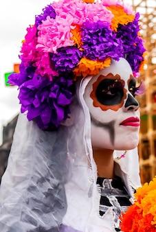 Dia de los muertos frau kostenlose fotos