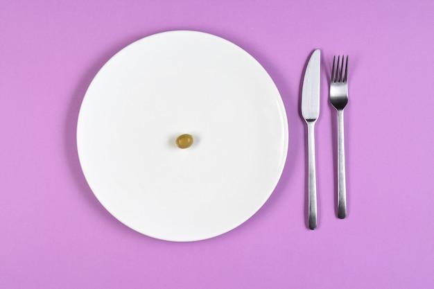Diät mit einer olive