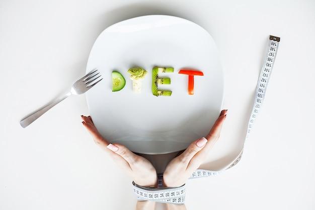 Diät oder gewichtskontrolle konzept.