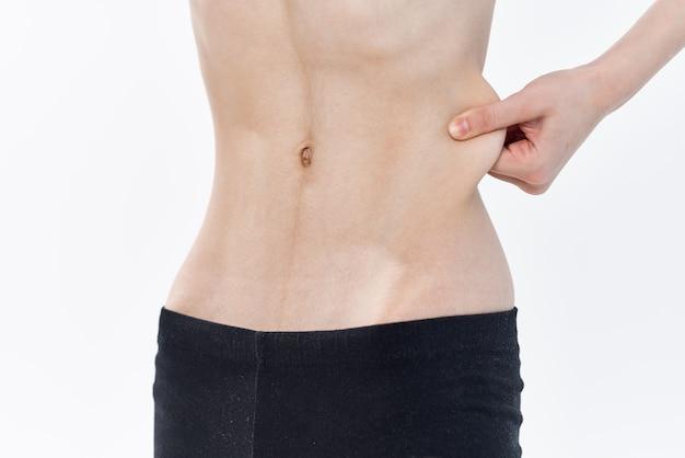 Diät zum abnehmen des weiblichen bauches mit flacher taille