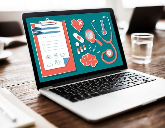 Diagnose arzt medizin gesundheits-wellness-konzept
