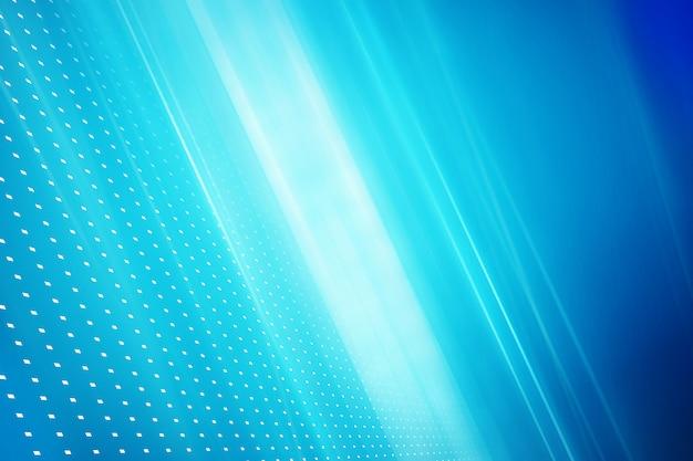 Diagonale lichtstrahlen und punkte auf blauem hintergrund