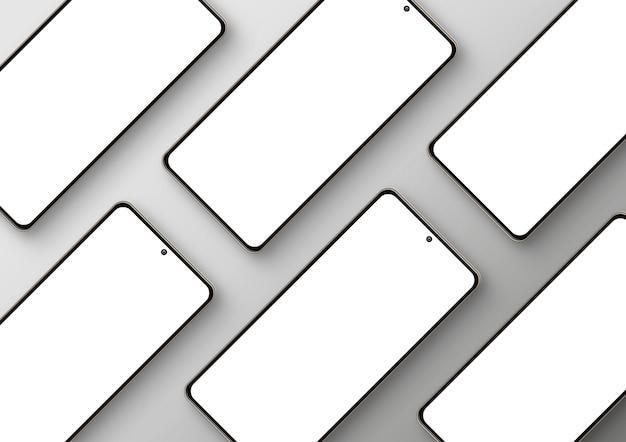 Diagonale zusammensetzung von smartphones