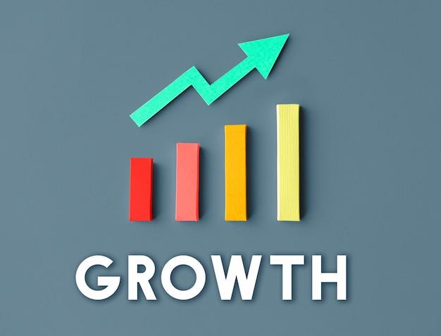 Diagramm wachstum entwicklung verbesserung gewinn erfolgskonzept