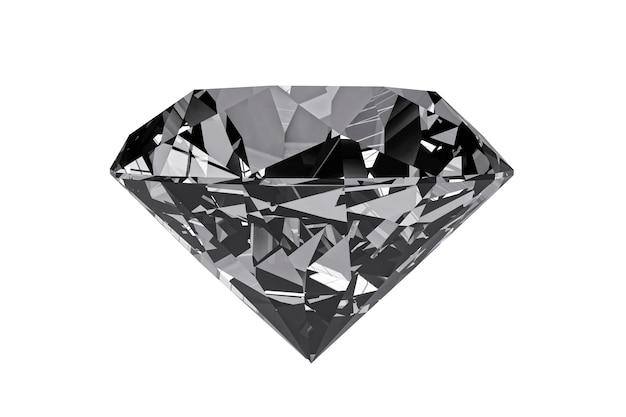 Diamant auf einem weißen hintergrund