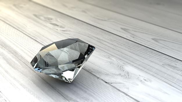 Diamant auf holzoberfläche
